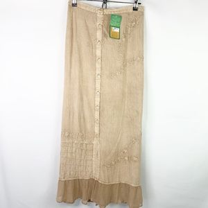 Sacred Threads Tan Maxi Skirt